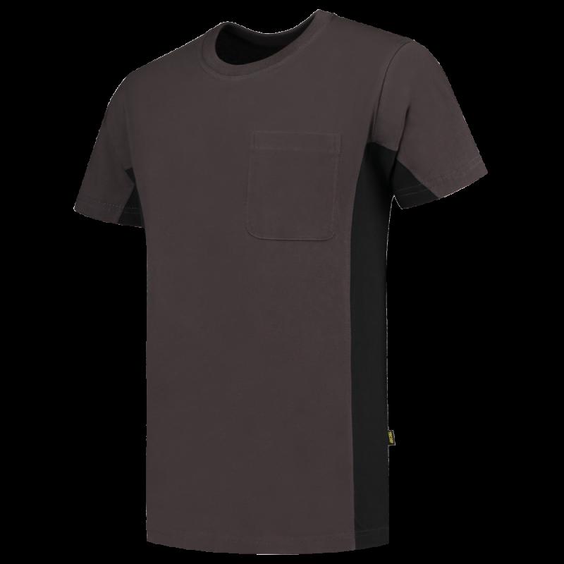 T-shirt bicolore poche poitrine